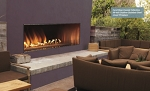 Empire Outdoor Stainless Steel Linear Gas Fireplace, 60-inch