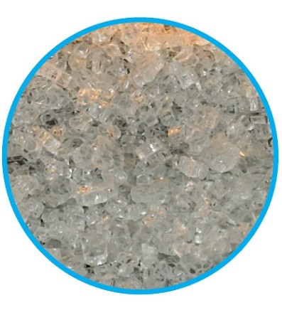 8 sq ft Clear Frost Crushed Glass
